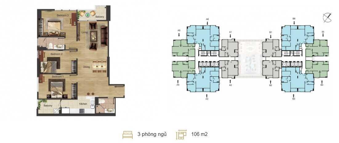 mặt bằng căn hộ chung cư hoàng mai center point